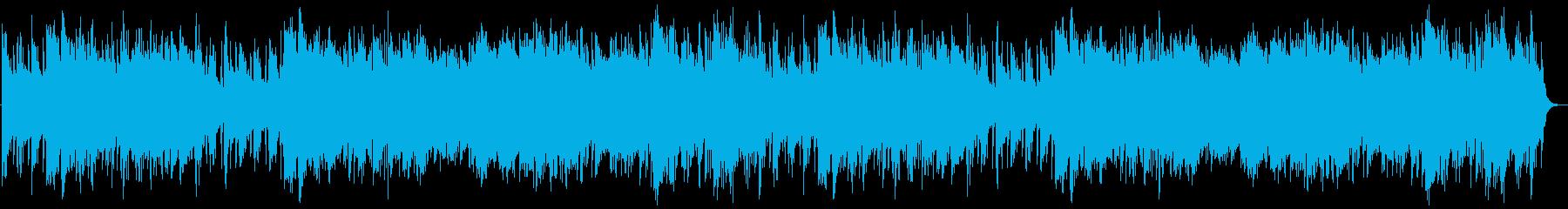 中華風のヒーリングの再生済みの波形