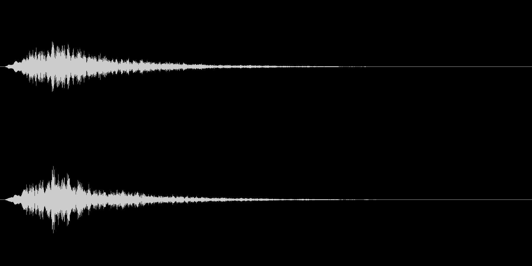 宇宙的な感じや機械的な音ですの未再生の波形