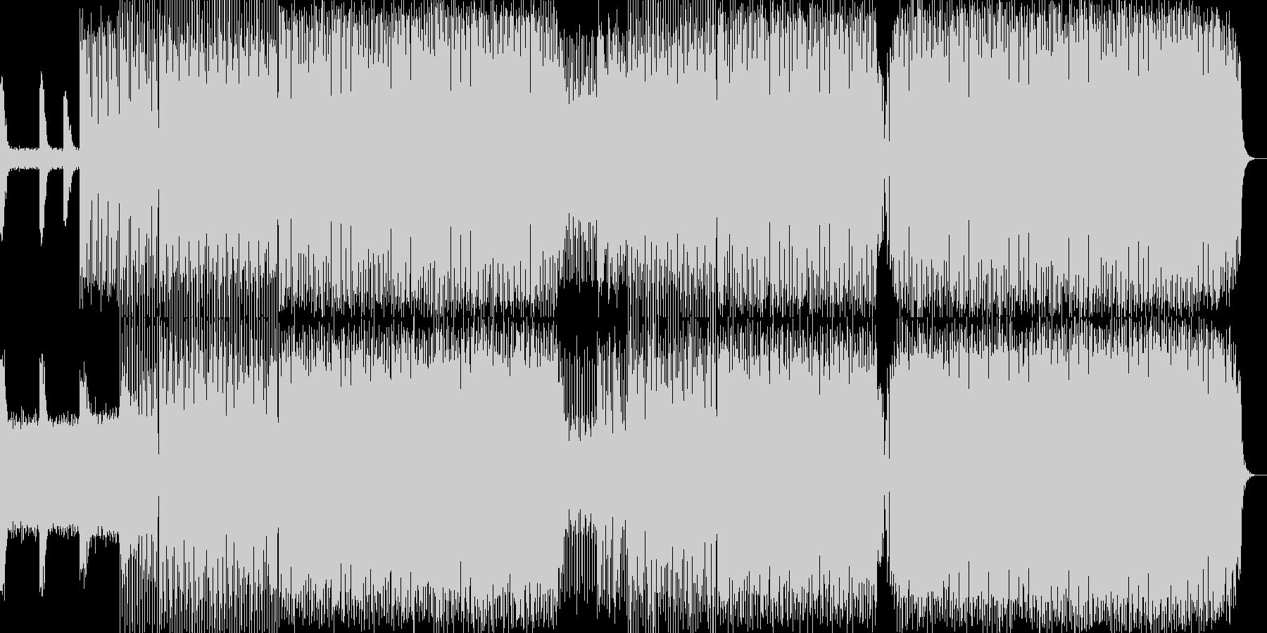 淡々としたビッグビートの未再生の波形
