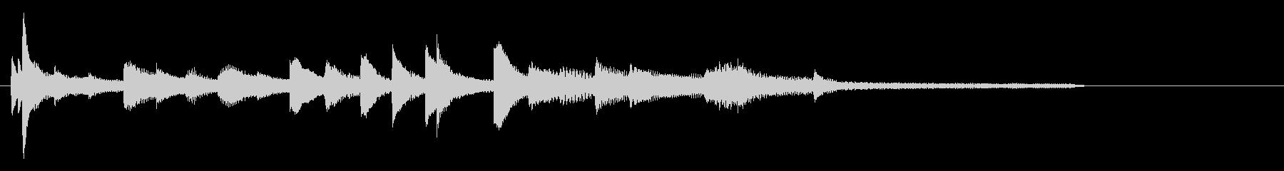しっとりピアノジングル、サウンドロゴの未再生の波形