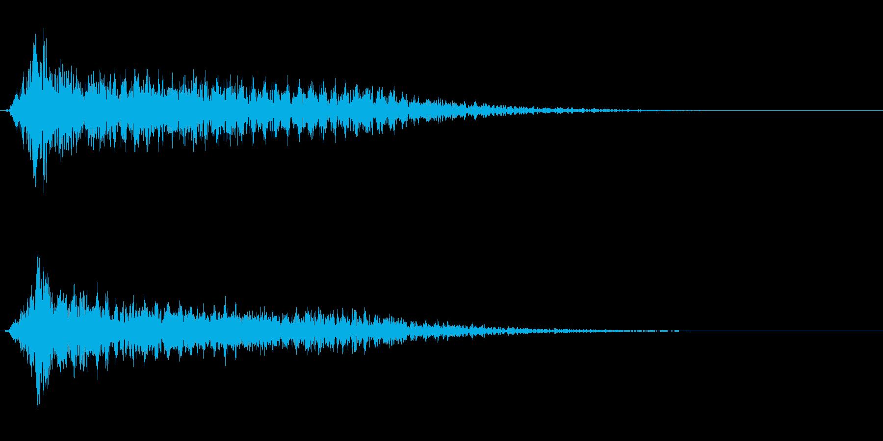 サスペンスに最適!ピアノの弦を弄ぶ音25の再生済みの波形
