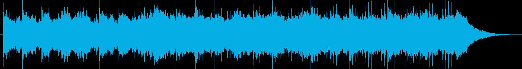 日本らしい切なく落ち着いた和風BGM1の再生済みの波形