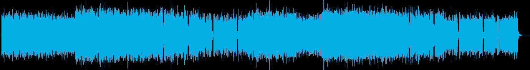 重低音ぎみのHEAVYROCK系の作曲の再生済みの波形