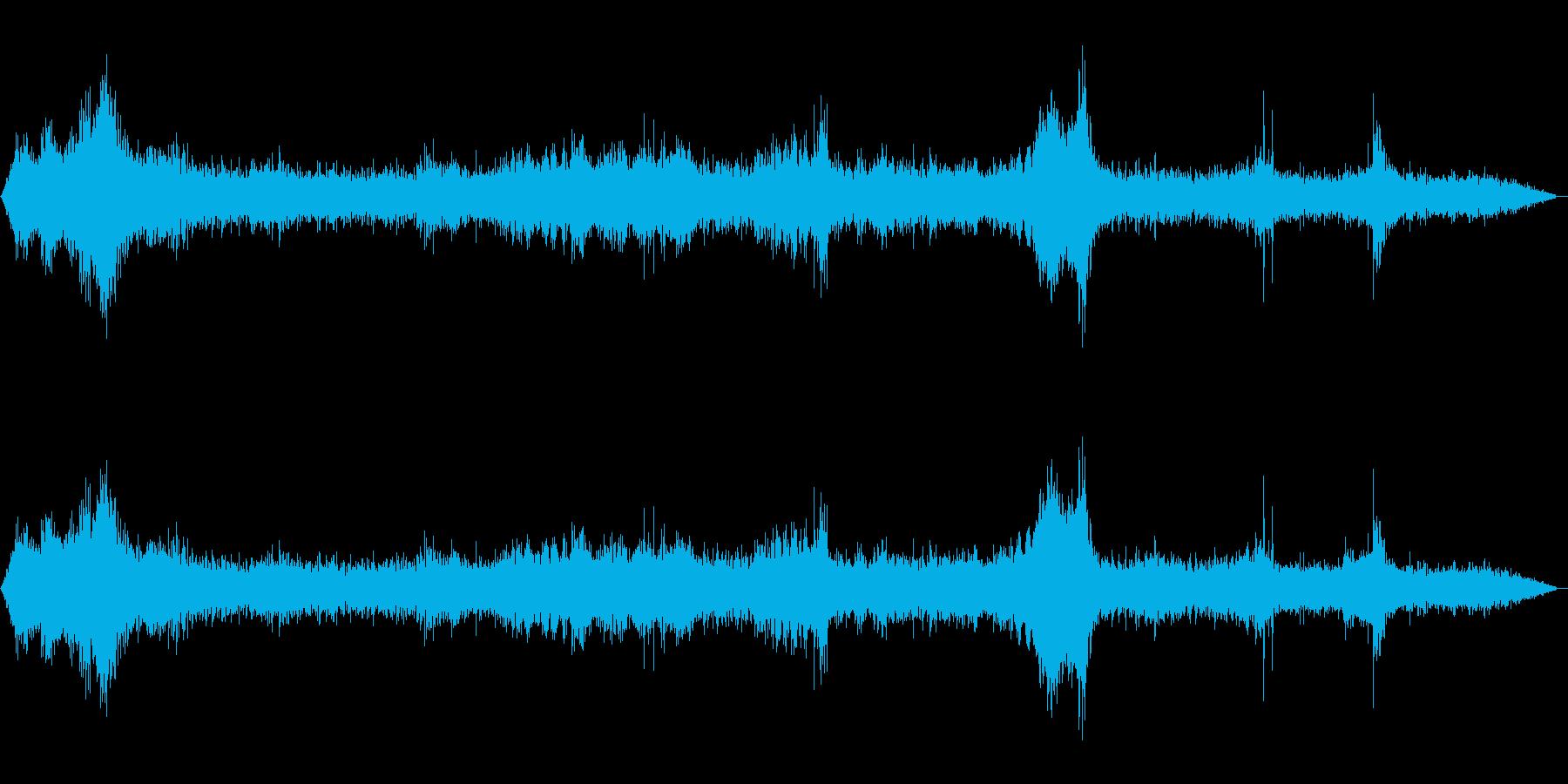 町の環境音の再生済みの波形