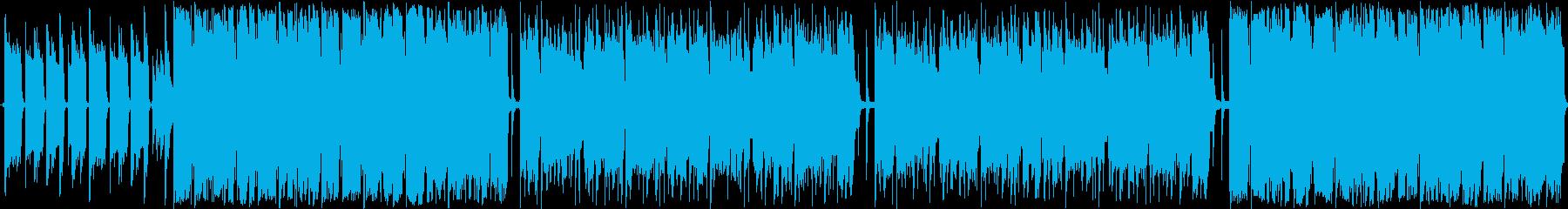 おしゃれな変拍子のポストロックの再生済みの波形