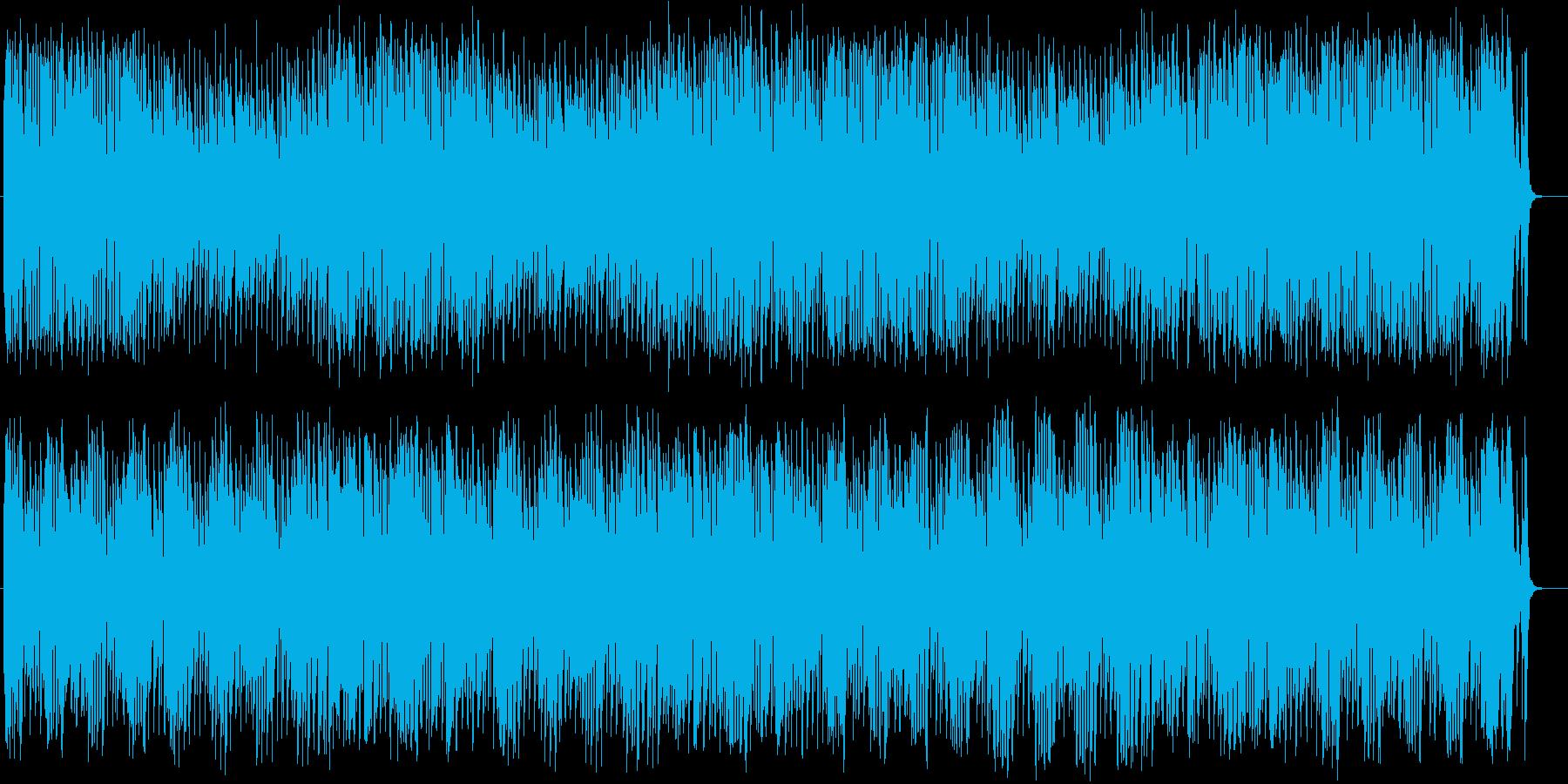 おしゃれなシンセ・ピアノなどのポップ曲の再生済みの波形