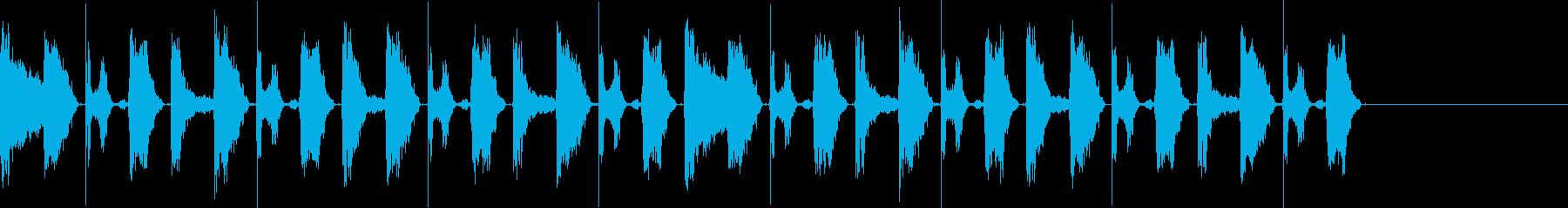 ボイスパーカッションでの8ビートのバリ…の再生済みの波形