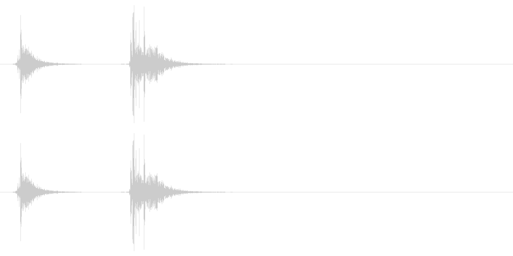 アタッシュケースの留め具を閉じる音_2の未再生の波形