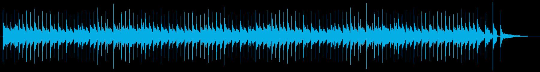 コミカルなサウンドのマーチの再生済みの波形
