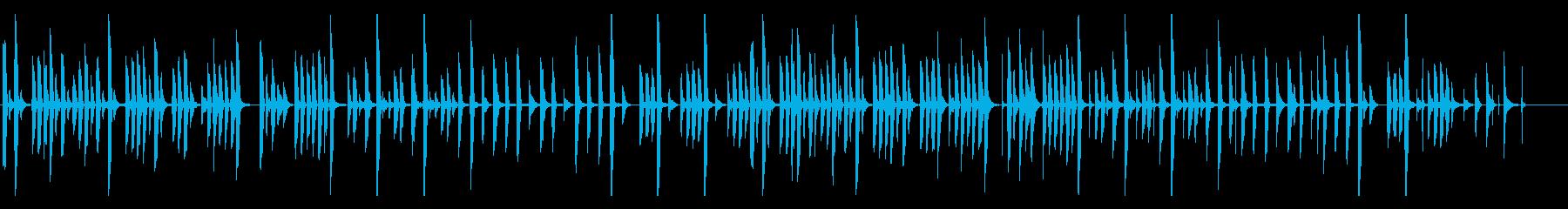トーク・説明向きの、かわいいゆるい曲の再生済みの波形