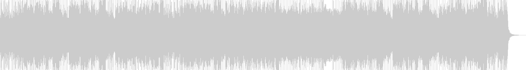 バンドサウンドのシンプルロックの未再生の波形