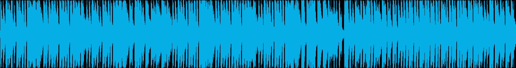 地下、洞窟のイメージ。レトロゲーム風の再生済みの波形