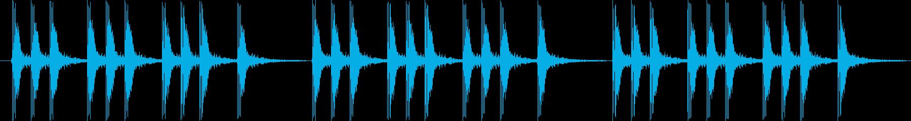 パパパン 三本締めの再生済みの波形
