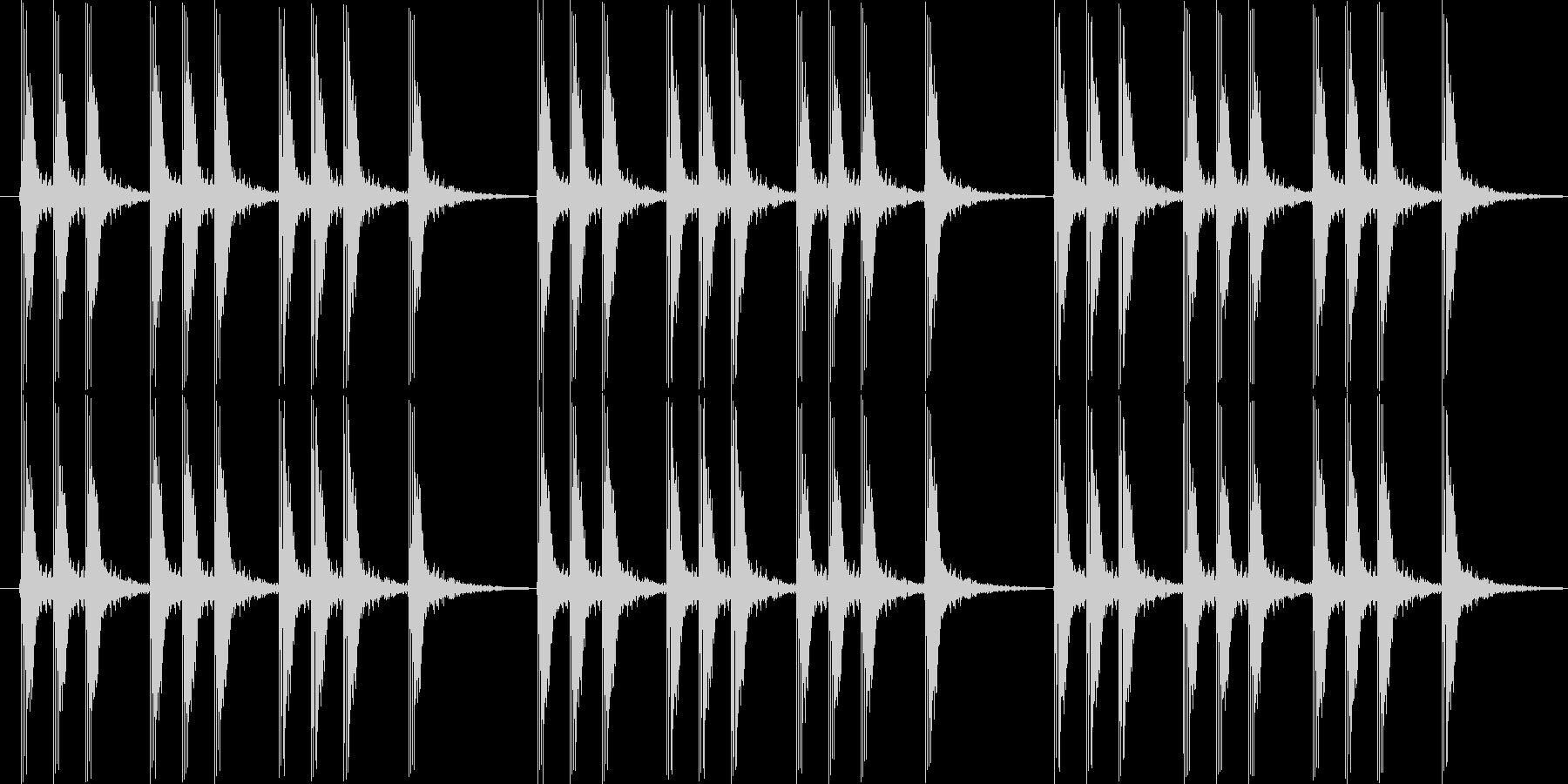 パパパン 三本締めの未再生の波形
