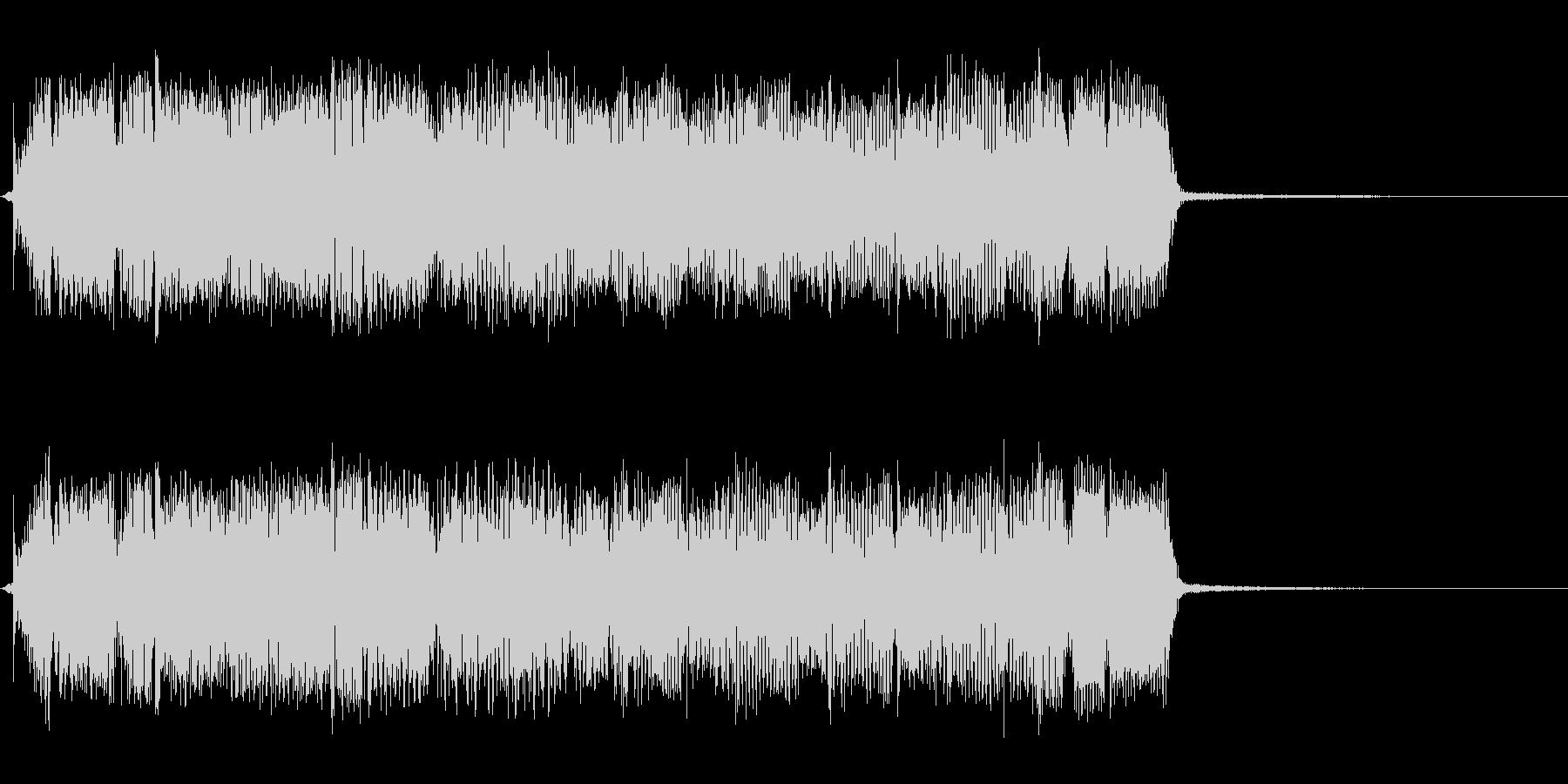 タイトル、ゲーム等のギターリフジングル長の未再生の波形