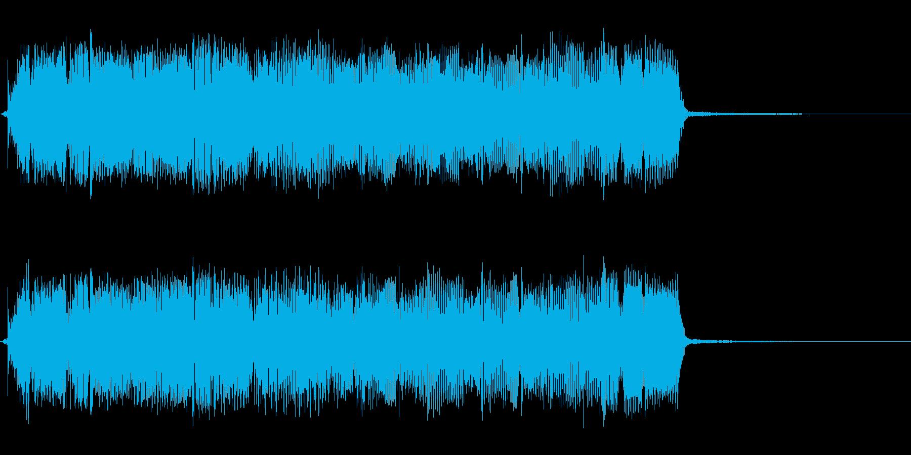 タイトル、ゲーム等のギターリフジングル長の再生済みの波形