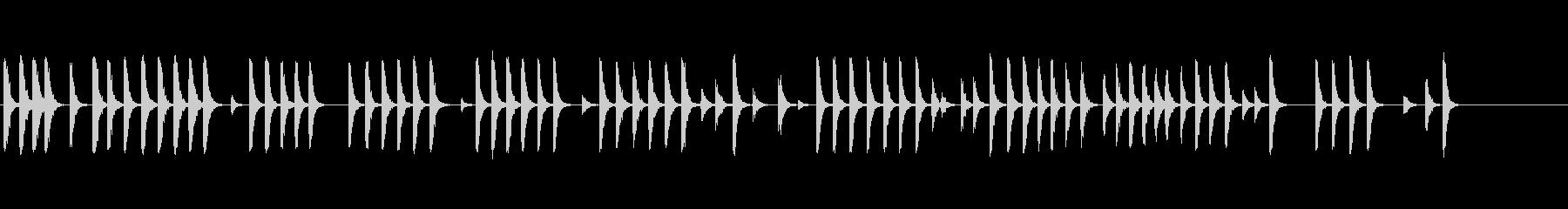 板金2のハンマーの未再生の波形
