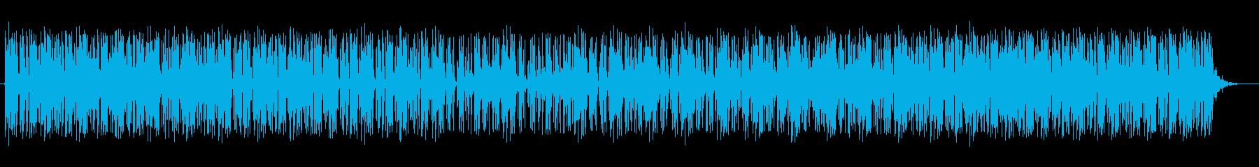 軽やかなテクノミュージックの再生済みの波形