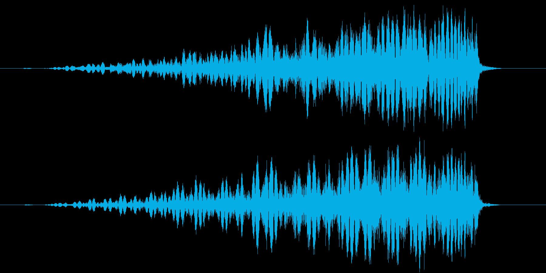 スワイプ、キャンセル、場面転換に最適01の再生済みの波形