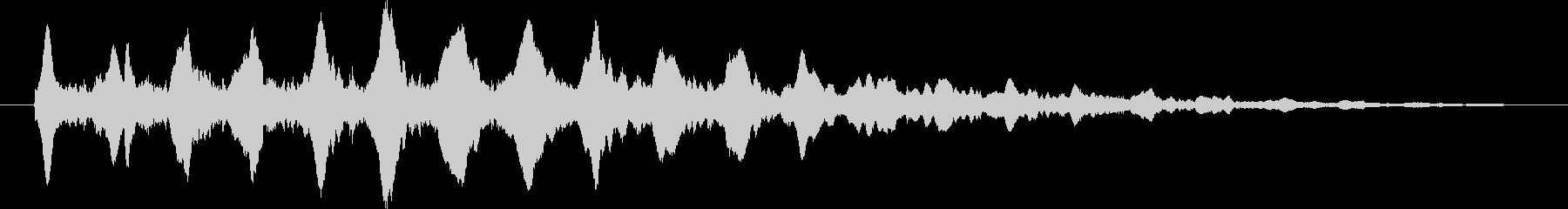 フニャフニャとしたシンセサイザーの音の未再生の波形