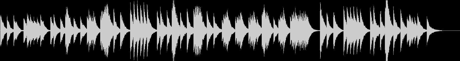 時報・チャイム風の名曲のメロディ・3の未再生の波形