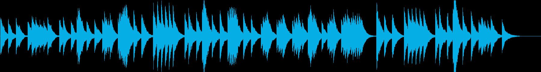 時報・チャイム風の名曲のメロディ・3の再生済みの波形