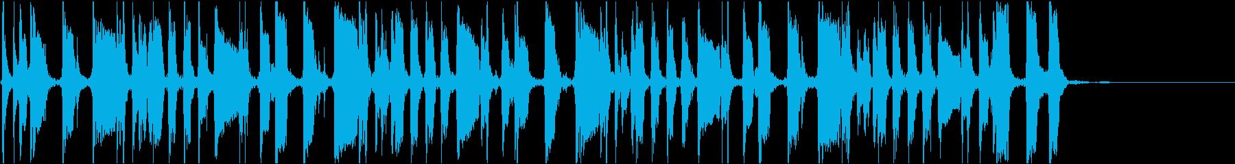 アコギの生演奏によるBGMの再生済みの波形