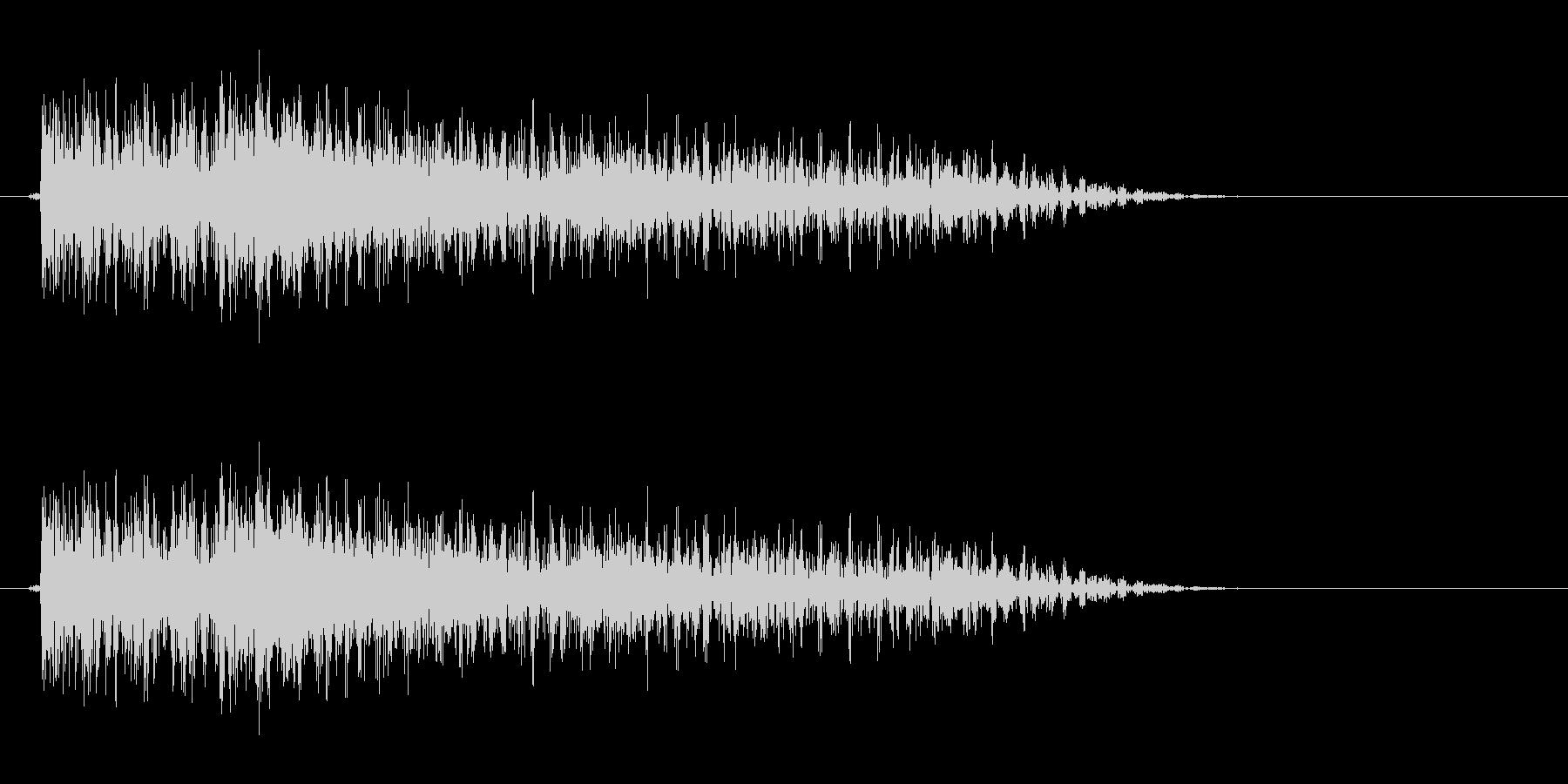 フォークギター太い6弦から1弦へボロロンの未再生の波形