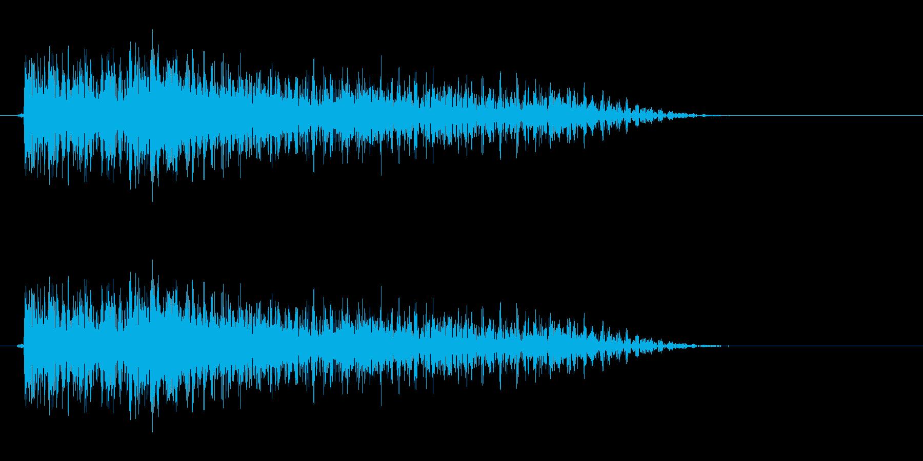 フォークギター太い6弦から1弦へボロロンの再生済みの波形