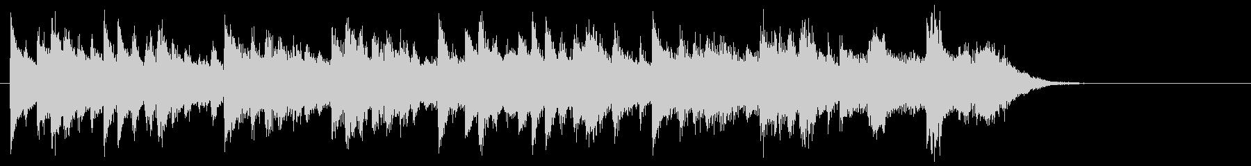Light and calm piano jingle's unreproduced waveform