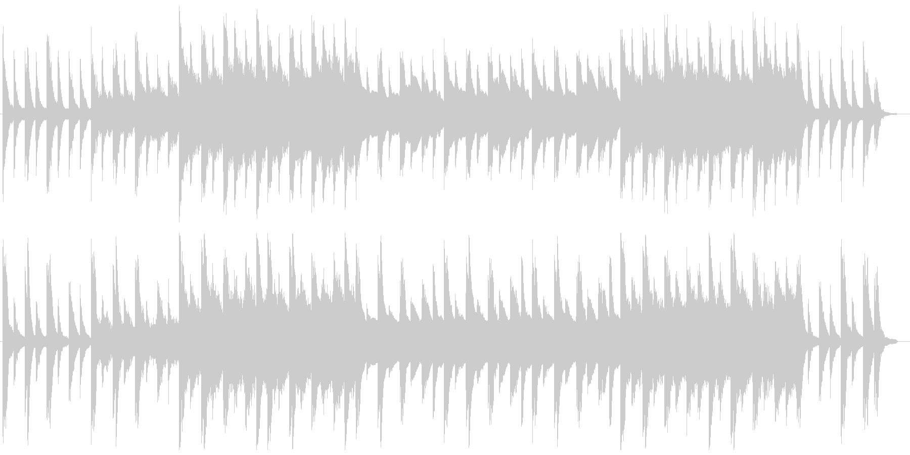 ピアノ、クリスタルのバラードの未再生の波形