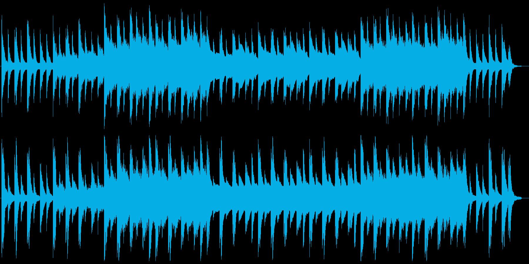 ピアノ、クリスタルのバラードの再生済みの波形