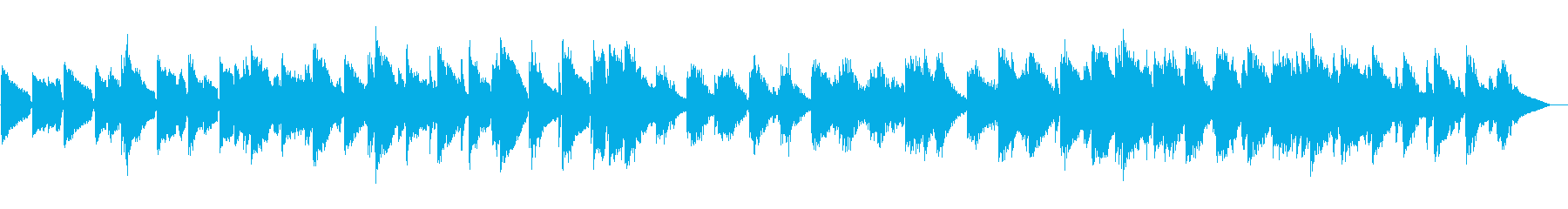 幻想的なボサノバの再生済みの波形