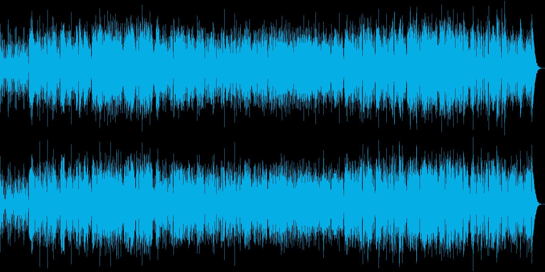 AOR感漂うお洒落ギターインストの再生済みの波形