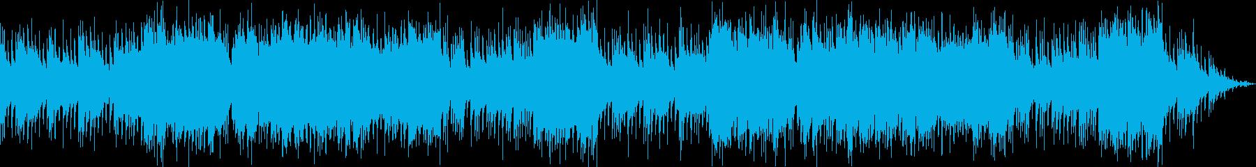 和風な笛と琴の怪しい曲の再生済みの波形