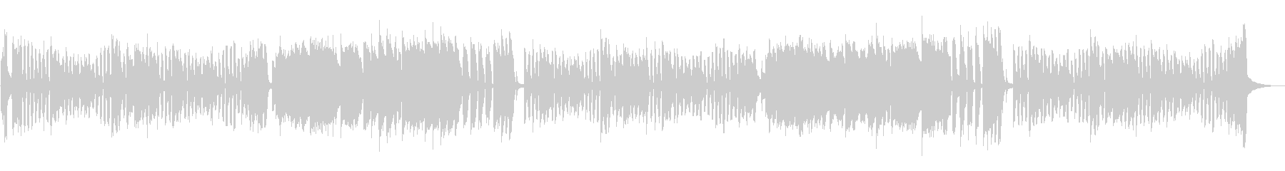 リコーダーによる、かわいくて元気な曲の未再生の波形