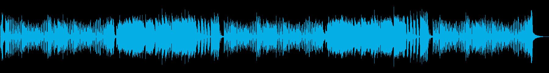 リコーダーによる、かわいくて元気な曲の再生済みの波形