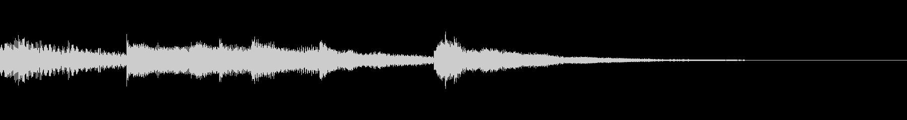 ピアノとハープのスタートアップ音の未再生の波形