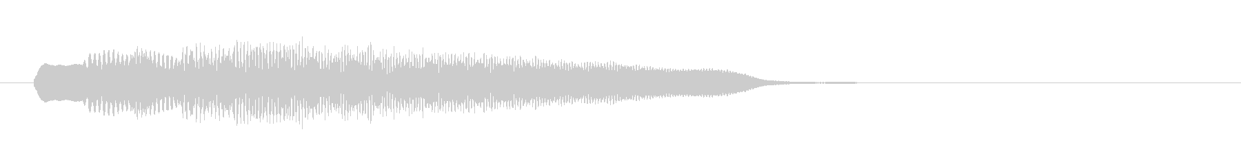 魔法のかかるような効果音の未再生の波形