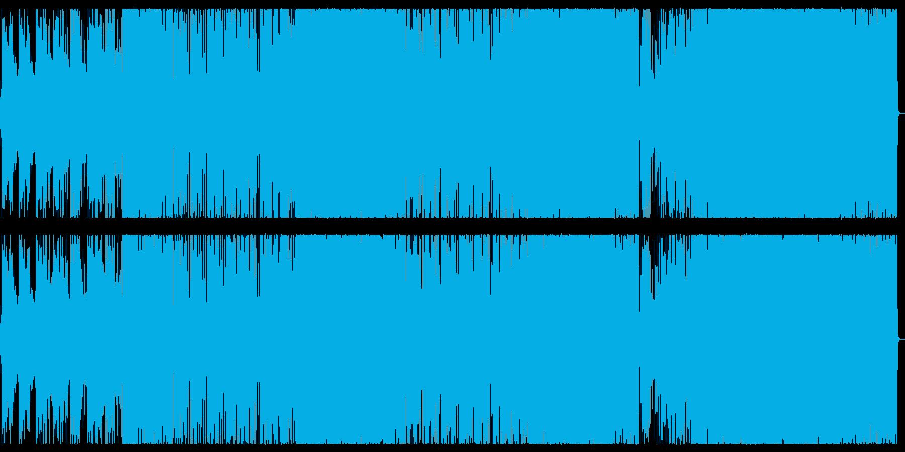 アニソン風/疾走感ある女性ボーカルロックの再生済みの波形