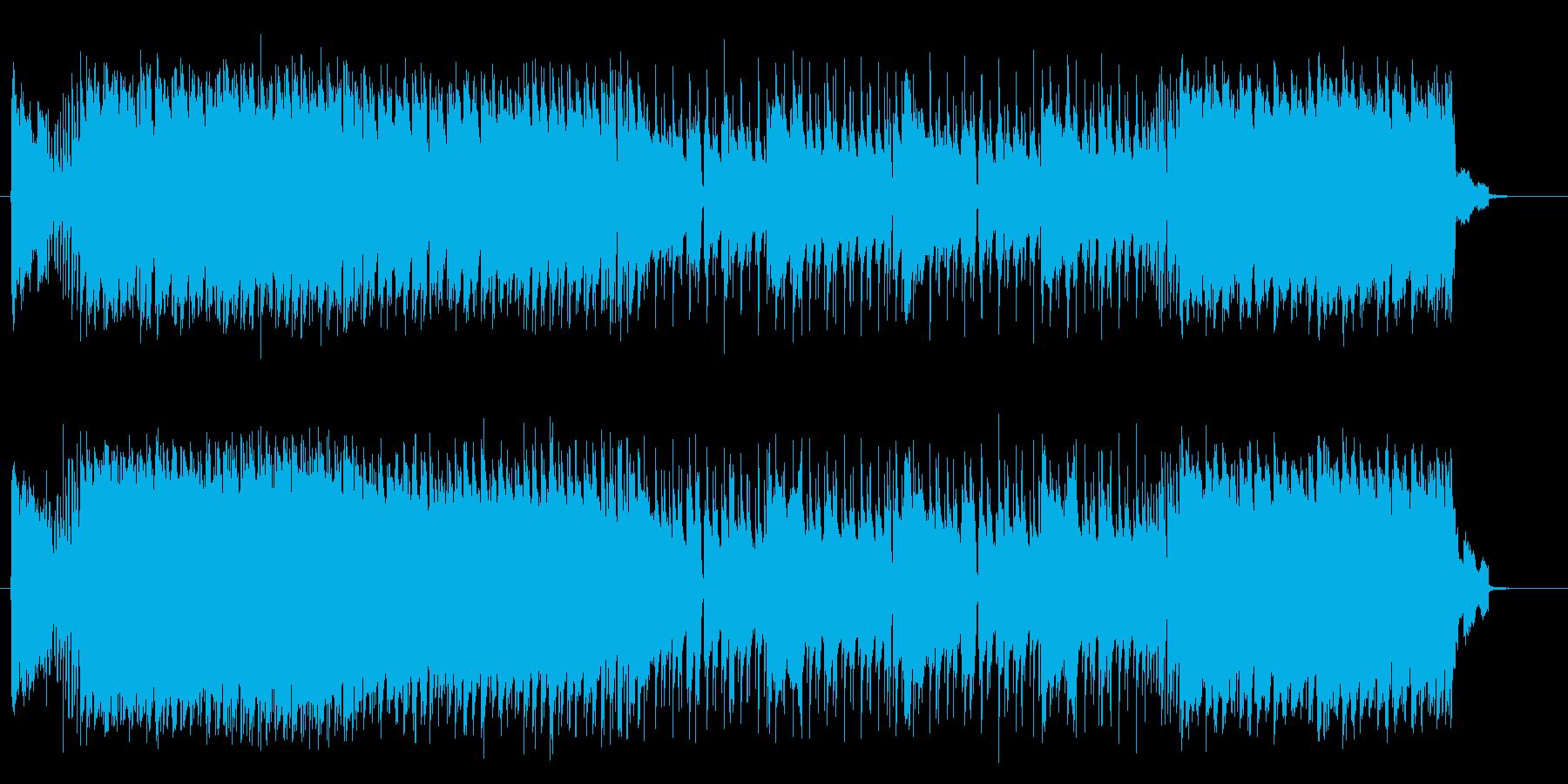 男っぽい季節感のあるロックの曲の再生済みの波形