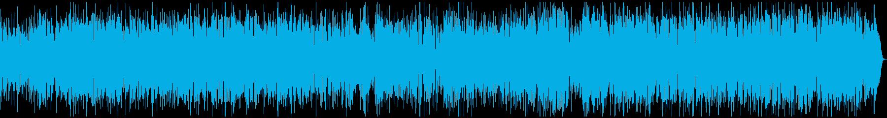 アップテンポな明るいボサノバの再生済みの波形