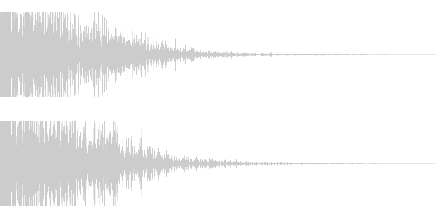 激しく衝突する車音・機械のクラッシュ音の未再生の波形