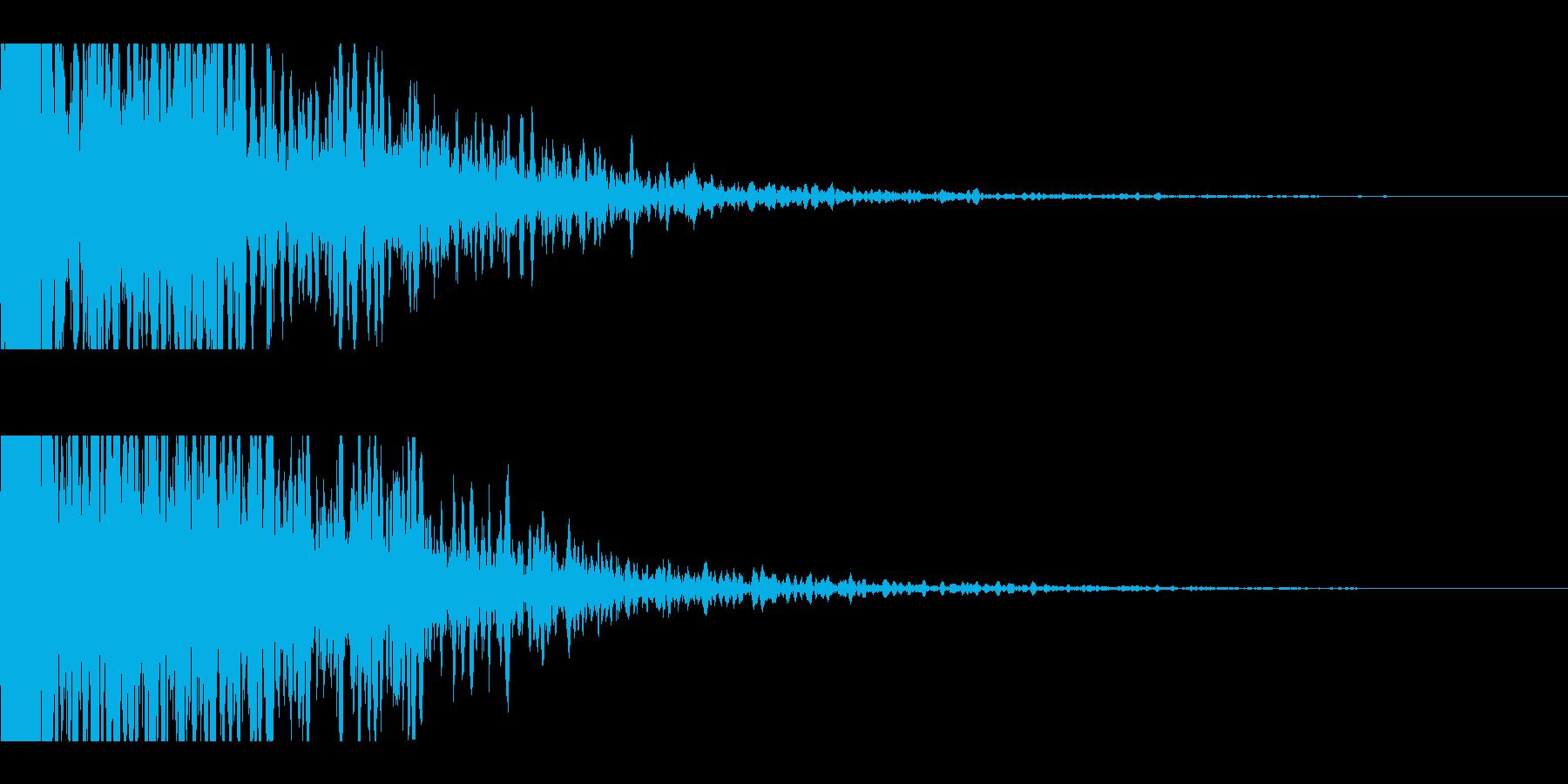 激しく衝突する車音・機械のクラッシュ音の再生済みの波形