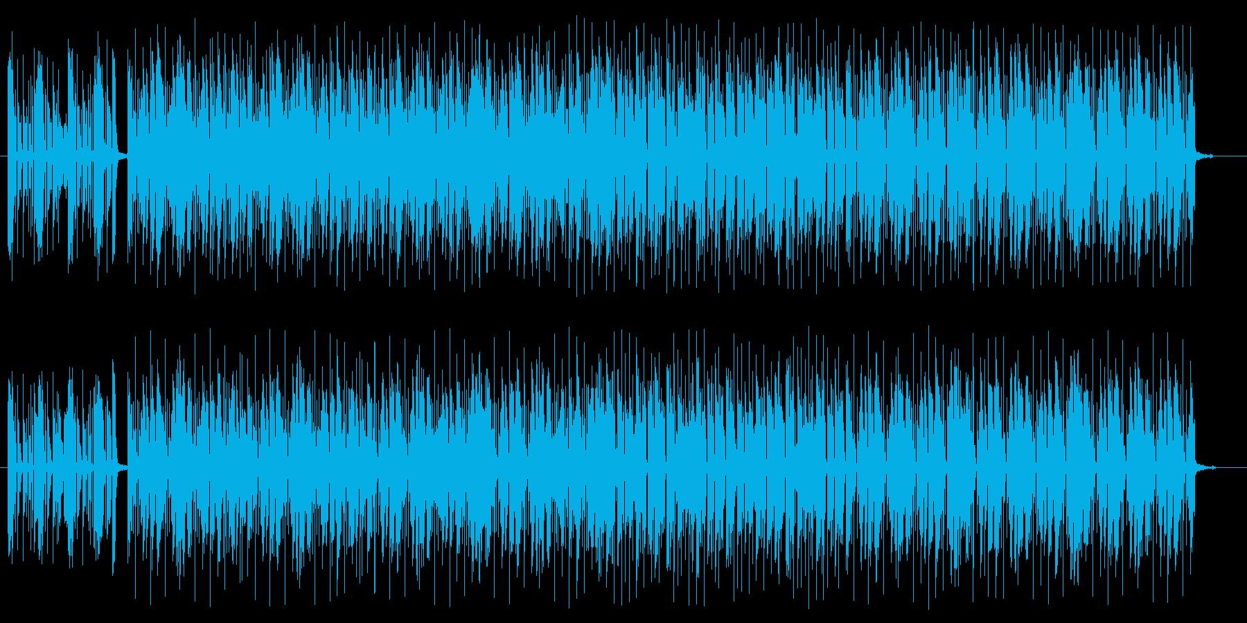 雰囲気あるギターのロックの曲の再生済みの波形