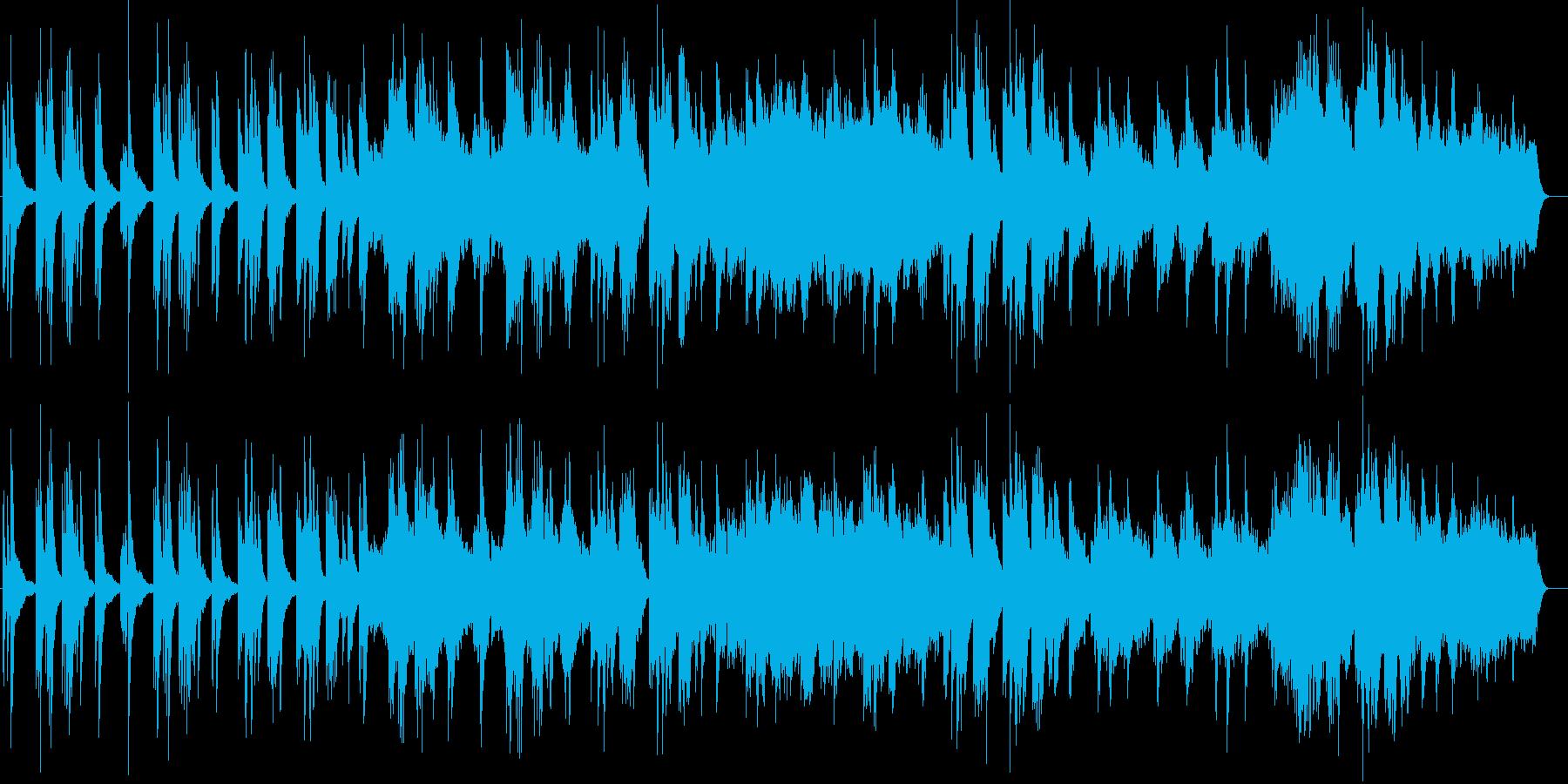 切ない感じのするピアノ曲の再生済みの波形