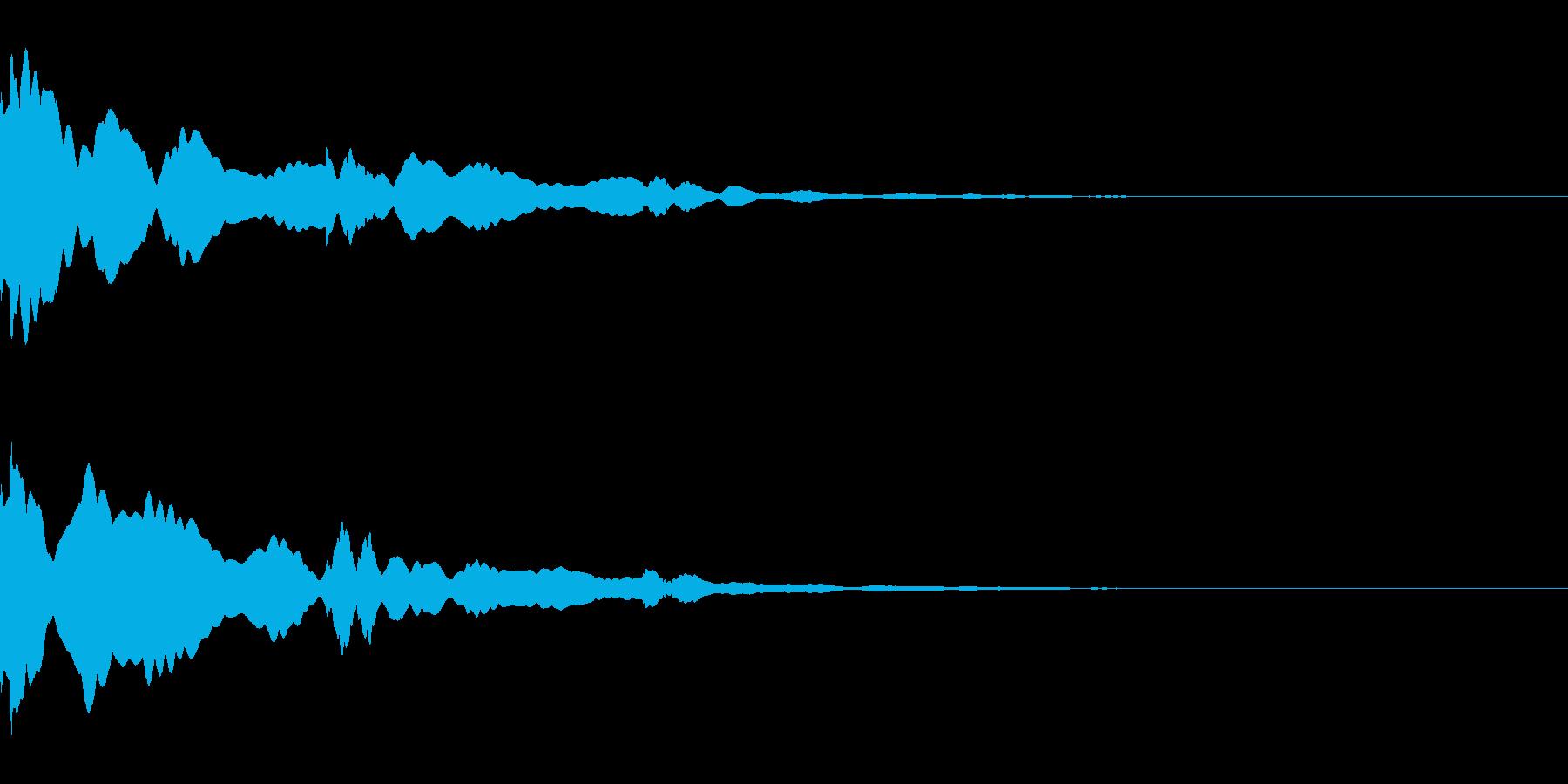 ベル/メタル/システム/金属/響くの再生済みの波形