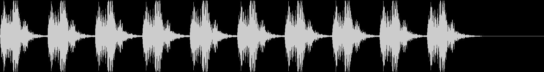 心音 心臓の音 鼓動 01 (ゆっくり)の未再生の波形