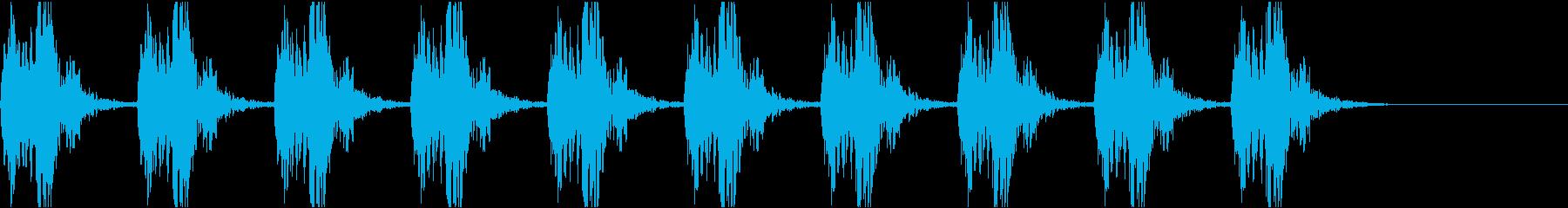 心音 心臓の音 鼓動 01 (ゆっくり)の再生済みの波形