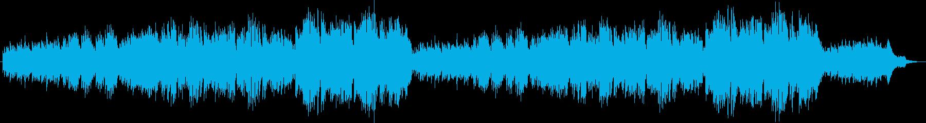 オカリナ生演奏によるのどかで穏やかな曲の再生済みの波形